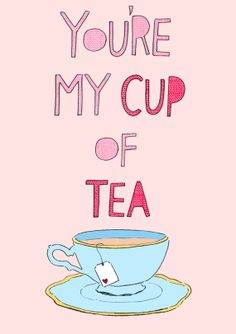 You're My Cup Of Tea  Valentine's Day Card by NatalieGriffinIllu, £2.20