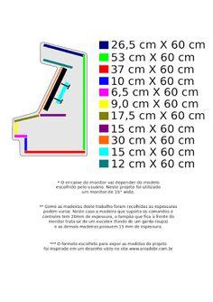 Resultado de imagen para medidas de um fliperama