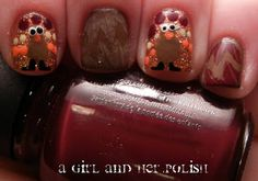 A Girl and Her Polish: Turkey Day Nails