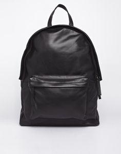Image 1 ofASOS Leather Backpack