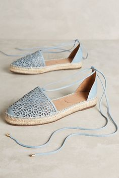 Delicate Espadrilles in a beautiful blue color.