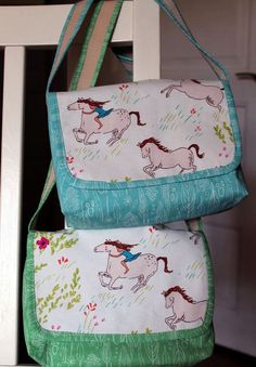 wee wander faric, mini messenger bags for twins