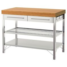 IKEA - RIMFORSA, Work bench, Gives you extra storage, utility and work space.The bottom shelf is designed for storing pots and pans.The hooks on the side of the workbench are perfect for hanging utensils or towels.You can adjust the shelves to suit your needs.