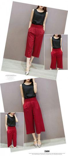Set áo voan quần cullotes đỏ - MSP: 6801