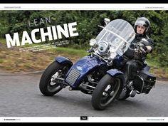 #UKTrikeMagazine #heritagesoftail #tiltingmotorworks #trike #trio #reversetrike
