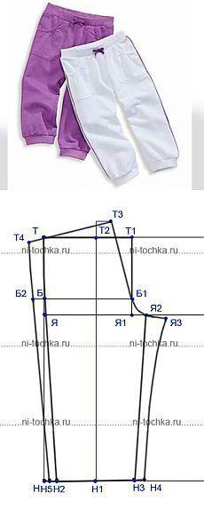 patrones de pantalones para niños #patterns #patternschildrens #sewing