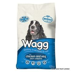 Wagg Complete with Chicken Vegetables Wagg Complete Chicken Vegetables is a delicious dry dog food with crunchy meaty chunks that are great for  keeping your dogs in top condition.