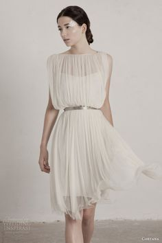 Fortuny short dress by Cortana 2015. #wedding #dress #gown #weddingdress #bridal