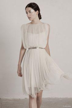 Fortuny short dress by Cortana 2015. #wedding #dress #gown #weddingdress #bridal