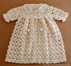 TRICO y CROCHET-madona-mía: Chaqueta de bebe a crochet con patrón