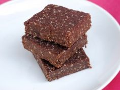 Cherry Chocolate RawBars® Mmmm!!! If you've never tried raw cacao + raw carob do it! Good for you!