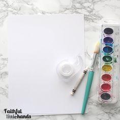 Easter Cross Watercolor Resist Painting Supplies