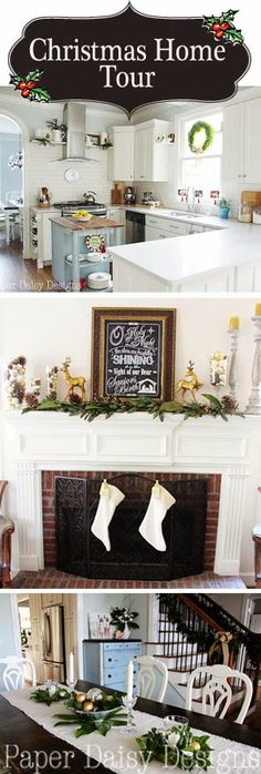 Check out these inexpensive ideas for decorating your home for Christmas. Paper Daisy Designs: Christmas Home Tour 2014:
