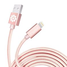 iPhone Charger, Rose Gold Cable, 6.6 Feet Long F-color