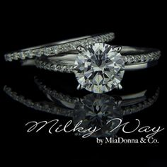 The Milky Way Wedding Ring set.   http://MiaCo.us/milkywayset