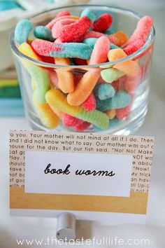 "Taste{Full}: Nadia's ""Chapter 2"" Book Themed Party Part I. Book worms. So clever!"