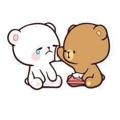 Cute Cartoon Pictures, Cute Love Pictures, Cute Love Gif, Cute Couple Wallpaper, Cute Disney Wallpaper, Cute Cartoon Wallpapers, Calin Gif, Cute Anime Cat, Cute Bear Drawings