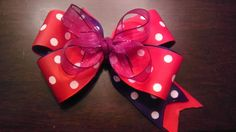 Purple and Red Pinwheel by AmalieBowtique on Etsy, $5.99
