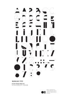 Qabalah font by Aviv design studio