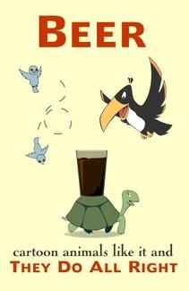 Beer: Cartoon Animals Like It