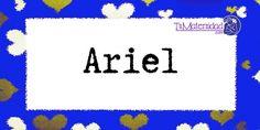 Conoce el significado del nombre Ariel #NombresDeBebes #NombresParaBebes #nombresdebebe - http://www.tumaternidad.com/nombres-de-nino/ariel/