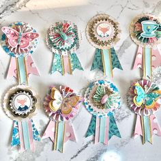"""Ann on Instagram: """"Another inspired @maggiehdesign Willow Lane Award Embellishments!  I love how these came out!"""" Scrapbook Paper Crafts, Scrapbook Supplies, Scrapbooking Layouts, Diy Scrapbook, Scrapbook Pages, Paper Rosettes, Candy Cards, Scrapbook Embellishments, Crate Paper"""