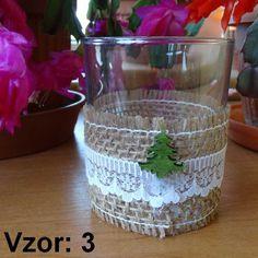 Sklenený svietnik Jarko - Sviečka - Bez sviečky, Vzor - Vzor 3