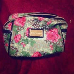 Betsey Johnson Makeup Bag This beaut holds SO MUCH makeup. this was my baby for the last couple years but recently got a new one as a gift. Treasure her as I did. Betsey Johnson Bags Cosmetic Bags & Cases