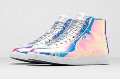 Nike Blazer Mid Iridescent   dámské duhové kotníkové boty d1cf421bd0