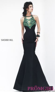 Prom Dresses, Plus Size Dresses, Prom Shoes -PromGirl   : Sherri Hill Prom Dress with Mermaid Skirt