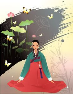 Hanbok Illustration: