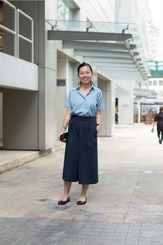 chambray and wide-legs