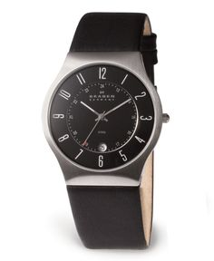 Skagen Denmark Watch, Men's Black Leather Strap 233XXLSLB - Men's Watches - Jewelry & Watches - Macy's