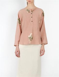 Creatuers of Comfort Margot Shirt - Flora Pink Cactus Print, Boho Fashion, Floral Prints, Boho Style, Blouse, Long Sleeve, Sleeves, Pink, Shirts