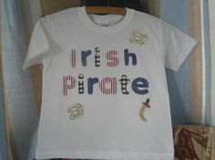 pirates every where Applique Letters, Hand Applique, Personalized Tee Shirts, Cream Tees, Applique Designs, Pirates, Fabric, Mens Tops, T Shirt