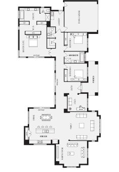 Panorama, New Home Floor Plans, Interactive House Plans - Metricon Homes - Regional Victoria New House Plans, Dream House Plans, Modern House Plans, House Floor Plans, Home Design Floor Plans, Plan Design, Flat House Design, Casas Containers, H & M Home