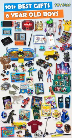 Browse our Gift Guide featuring 300 Best Toys For 6 Year Old Boys. Discover educational toys, unique kids gifts, kids games, kids books, and more for your 6 year old boy. Make his Birthday or Christmas extra magical with these delightful picks hell love! Christmas Presents For 5 Year Olds, Boys Toys For Christmas, Toys For Boys, Kids Toys, Unique Gifts For Kids, Kids Gifts, Diy Cadeau Noel, 6 Year Old Boy, Non Toy Gifts