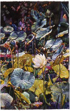 Watercolor - Joseph Raffael, Bali Pond