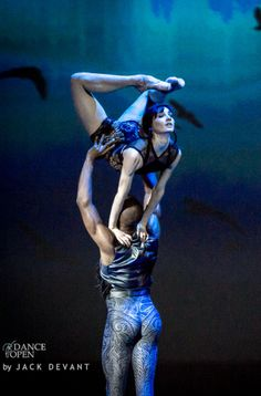 Melissa Hamilton and Eric Underwood performing Raven Girl at Dance Open Ballet Gala 2014. Photo by Jack Devant