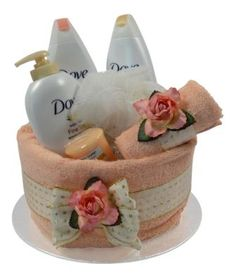 Peach Dove Pamper Cake
