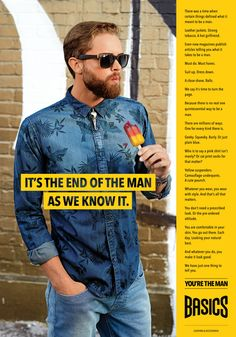 """SS 2015 BRAND CAMPAIGN - """"BASICS"""" YOU'RE THE MAN"""