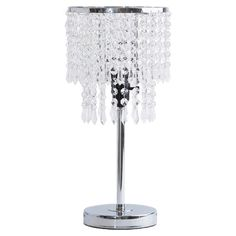 Stylist's Tip: Crystal table lamps aren't just for movie stars. This stylish design lends soft light to your vanity or brings a touch of dazzle to your home ...