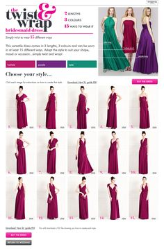 More fun ways to wrap the Dessy twist dress : convertible bridesmaid dress