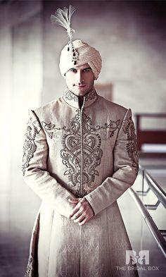25 Dapper Ideals Of The Designer Sherwani For Groom Hotties!