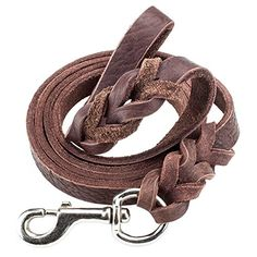 Weebo Pets 6foot Braided Soft Latigo Leather Dog Leash * Learn more by visiting the image link.