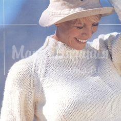 свитер - реглан спицами