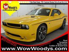 2012 Dodge Challenger, Yellow $41,625