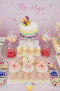 This pastel butterfly First Birthday Party is just gorgeous. Styled by the super talented Sarah from Sugar Coated Mama, it's every little girl's dream party. Butterfly Theme Party, Butterfly Garden Party, Butterfly Baby Shower, Butterfly Birthday, First Birthday Parties, First Birthdays, Birthday Ideas, Girl Parties, Birthday Cake