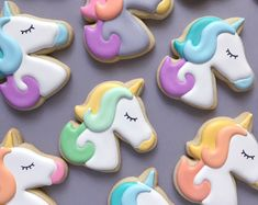 Etsy :: Your place to buy and sell all things handmade Unicorn Birthday Parties, Unicorn Party, Cookie Decorating, Sugar Cookies, Cookie Cutters, Etsy Seller, Yummy Food, Sweets, Gingerbread Houses