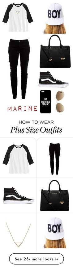 """Sans titre #63"" by nailup on Polyvore featuring Joie, MICHAEL Michael Kors, Vans, Casetify, Ray-Ban, BOY London and Banana Republic"
